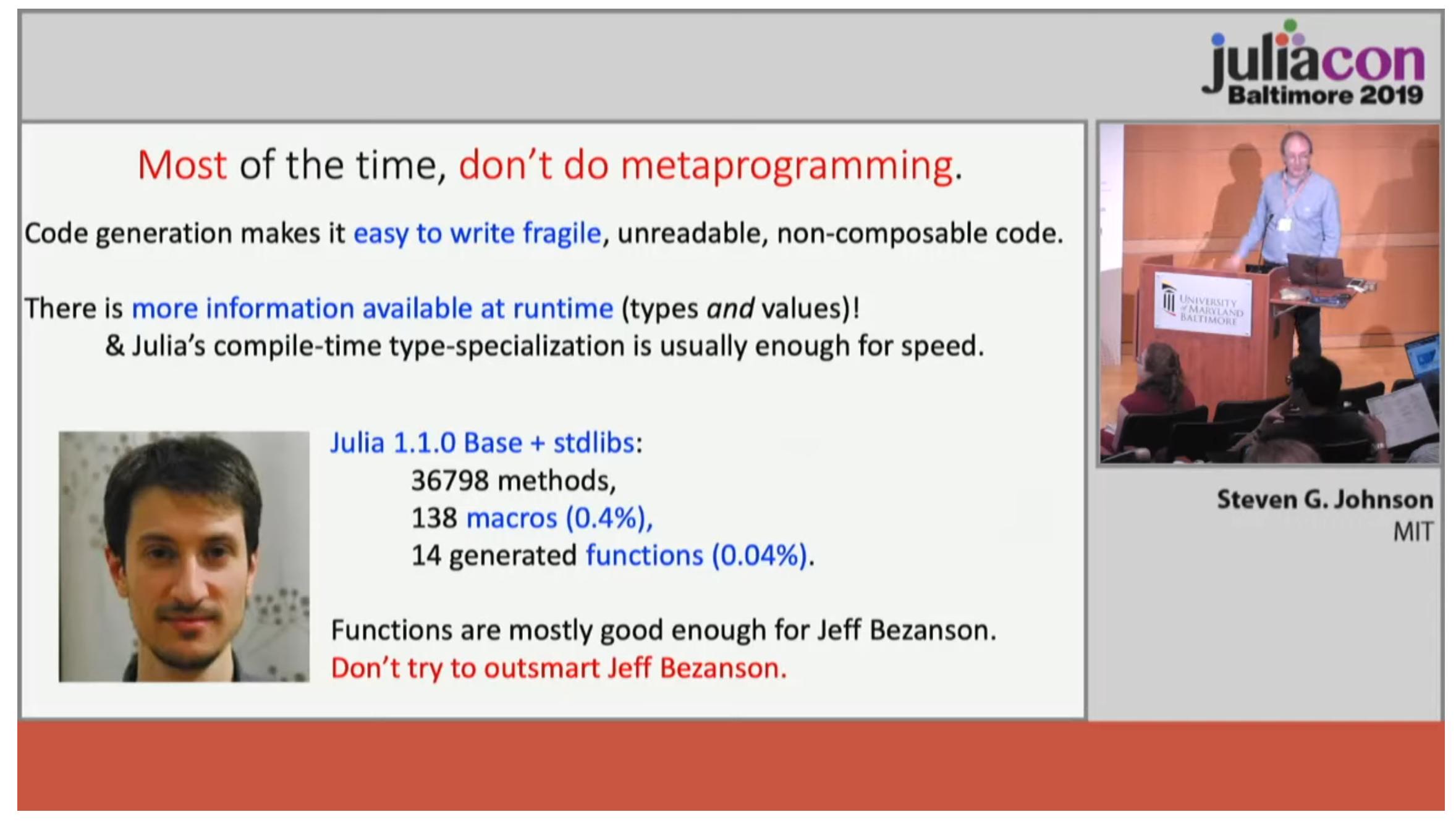 Slide From Steven G. Johnson's talk